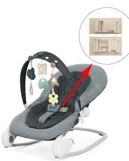 1 White Harness Seat Clip for CHICCO Baby Infant Rocker Boun
