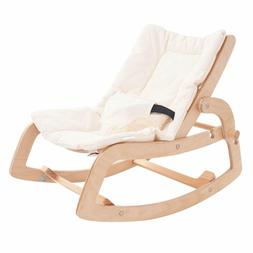 3-in-1 Baby Bouncer Rocker Chair and Convertible Wooden Recl