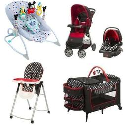 5 Pc. Mickey Mouse Newborn Set Car Seat Stroller Playard Hig