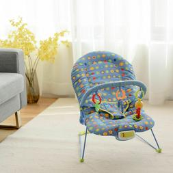 Adjustable Baby Bouncer Swing Rocker Reclining Chair W/ Soot