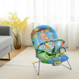 Adjustable Baby Bouncer Swing Rocker Reclining Chair W/ Toys