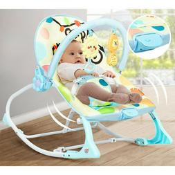 Baby Bouncer Bed  Massager Rocking Chair With Toys, Adjustab