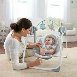 Baby Bouncer Swing Seat Bassinet Crib Bed Recline Portable I