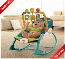 Baby Boy Bouncer Rocker Chair Seat Newborn Infant Toddler Ki