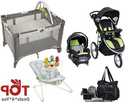 Baby Deluxe Bouncer Playard Jogger Stroller Car Seat Bag Set