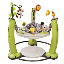 Evenflo ExerSaucer Jump and Learn Stationary Jumper Jungle Q