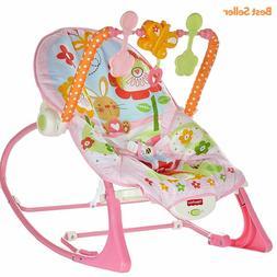 Baby Girl Bouncer Seat Newborn Infant Toddler Rocker Vibrati
