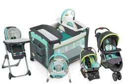 Baby Stroller Travel System with Car Seat High Chair Bouncer