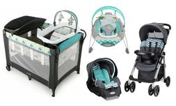 Baby Stroller with Car Seat  Infant Bouncer Nursery Playard