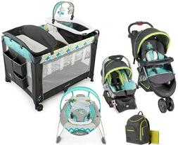 Baby Stroller with Car Seat Infant Bouncer Nursery Playard B