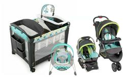 Baby Stroller with Car Seat Travel System Infant Bouncer Nur