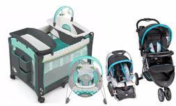 Baby Trend Stroller with Car Seat Playard Crib  Bouncer Trav