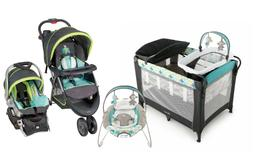 Baby Stroller with Car Seat Playard Infant Bassinet Auto Bou