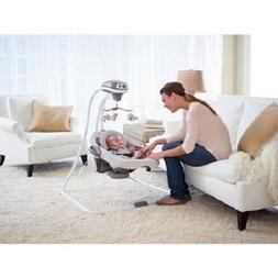 Baby Swing Bassinet Bouncer Crib Cradle Infant Child Girl Se