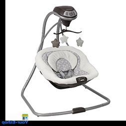 Baby Swing Bouncer Cradle Plug In Option For Infants Seat In
