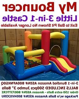 """BALLS INCLUDED - My Bouncer 3-in-1 Little Castle Bounce 118"""""""