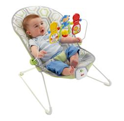 Baby's Bouncer Geo Meadow Infant Calming Gear Accessory Soft
