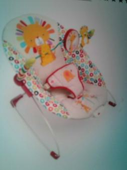 Bright Starts Bouncer Seat for boy or girl 0 6mos 40lbs pinw