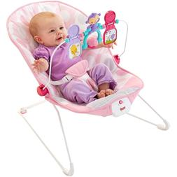 Brand New Fisher Price Baby's Bouncer Pink Seat Toddler Rock