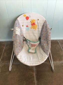 bright start pooh calming vibrating bouncer chair