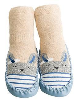 Unisex Cartoon Baby Anti Slip Walker Infant Socks Toddler Sh