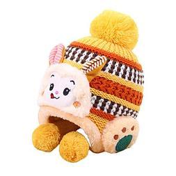 Children Cute Cartoon Monkey Earmuffs Knitted Hat Classic Co
