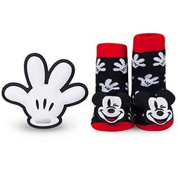 Disney Baby Authentic Mickey Mouse Rattle Socks and Glove Ha