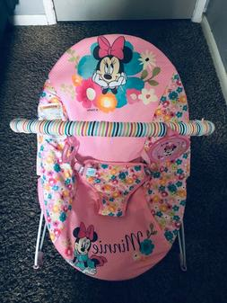 Disney Bright Starts Minie Mouse Perfect In Pink Vibrating B