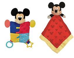 Disney Baby, Mickey Mouse Snuggle Blanky + Flat Blanky Teeth