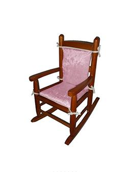 Baby Doll Bedding Crocodile Junior Rocking Chair Pad, Pink