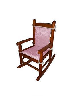 Baby Doll Bedding Crocodile Junior Rocking Chair Pad, Pink