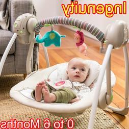 Electric Rocker Baby Swing Infant Portable Cradle Bouncer Se