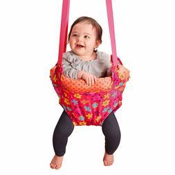 EVENFLO EXERSAUCER BABY DOOR JUMPER BOUNCER FLOWER PARTY BRI