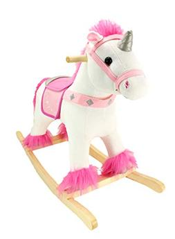 Animal Adventure 47603 Unicorn So', So' Plush & Real Wood Ri