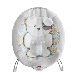 fisher my little snugapuppy deluxe bouncer white