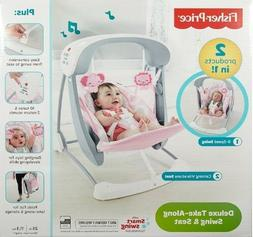Fisher-Price Deluxe Take Along Baby musical Swing and Seat P