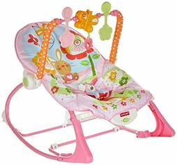 Fisher-Price Infant-to-Toddler Rocker, Bunny, Baby Girl Pink