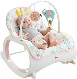 Infant-to-Toddler Rocker Pink Baby Seat Swing Chair Bouncer