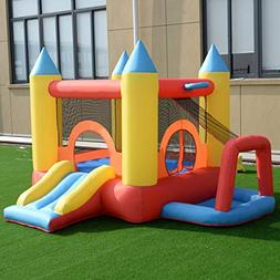 Inflatable Mighty Bounce House Jumper w/ Slide + Arch