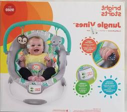Bright Starts Jungle Vines Cradling Bouncer Seat with Soothi