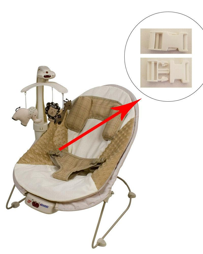 1 white harness seat clip for kolcraft