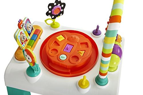 Kolcraft 1-2-3 Ready-to-Grow Developmental Toys, Spanish Learn Play Height Seat, Bugs