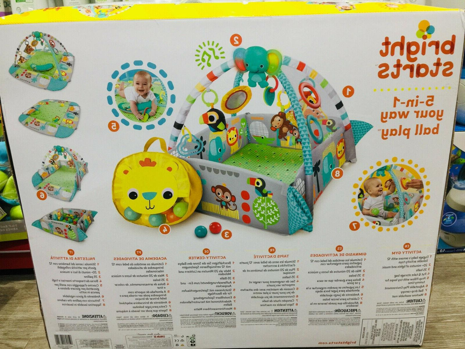 Bright Starts 5-in-1 Your Way Ball Play Activity Gym- Brand