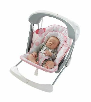 Fisher-Price Deluxe Take Along Swing & Seat, Pink/White