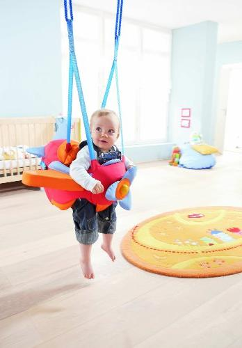 HABA Aircraft Indoor Baby Swing with Adjustable & Propeller for 10 Months