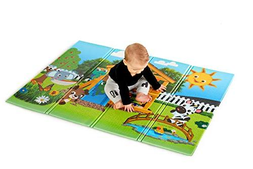 "Baby Large 35"" Foldable Play Mat, and Up"