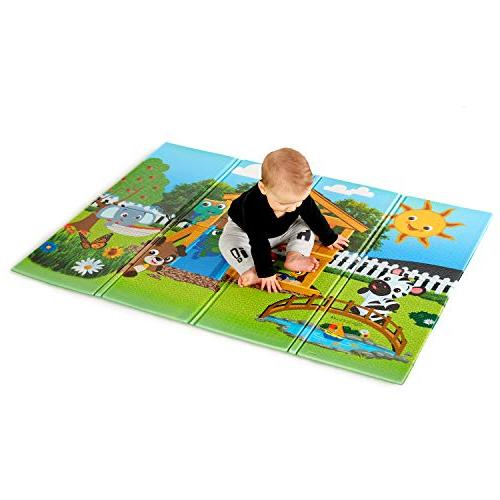 "Baby Einstein Anytime Playground Large 47"" x 35"" Foldable Mat, and"