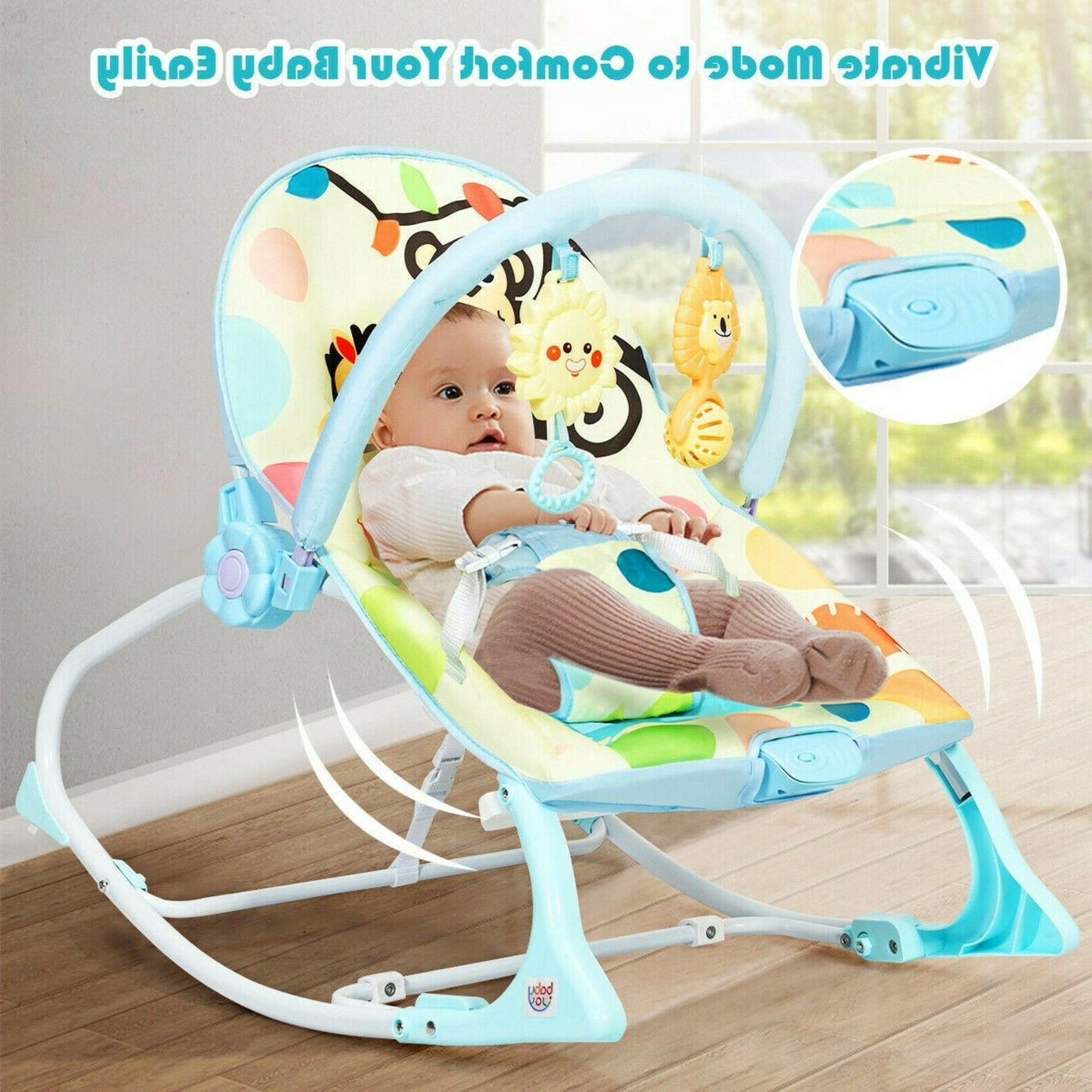 Baby Massager Rocking Chair With Adjustable Foldable