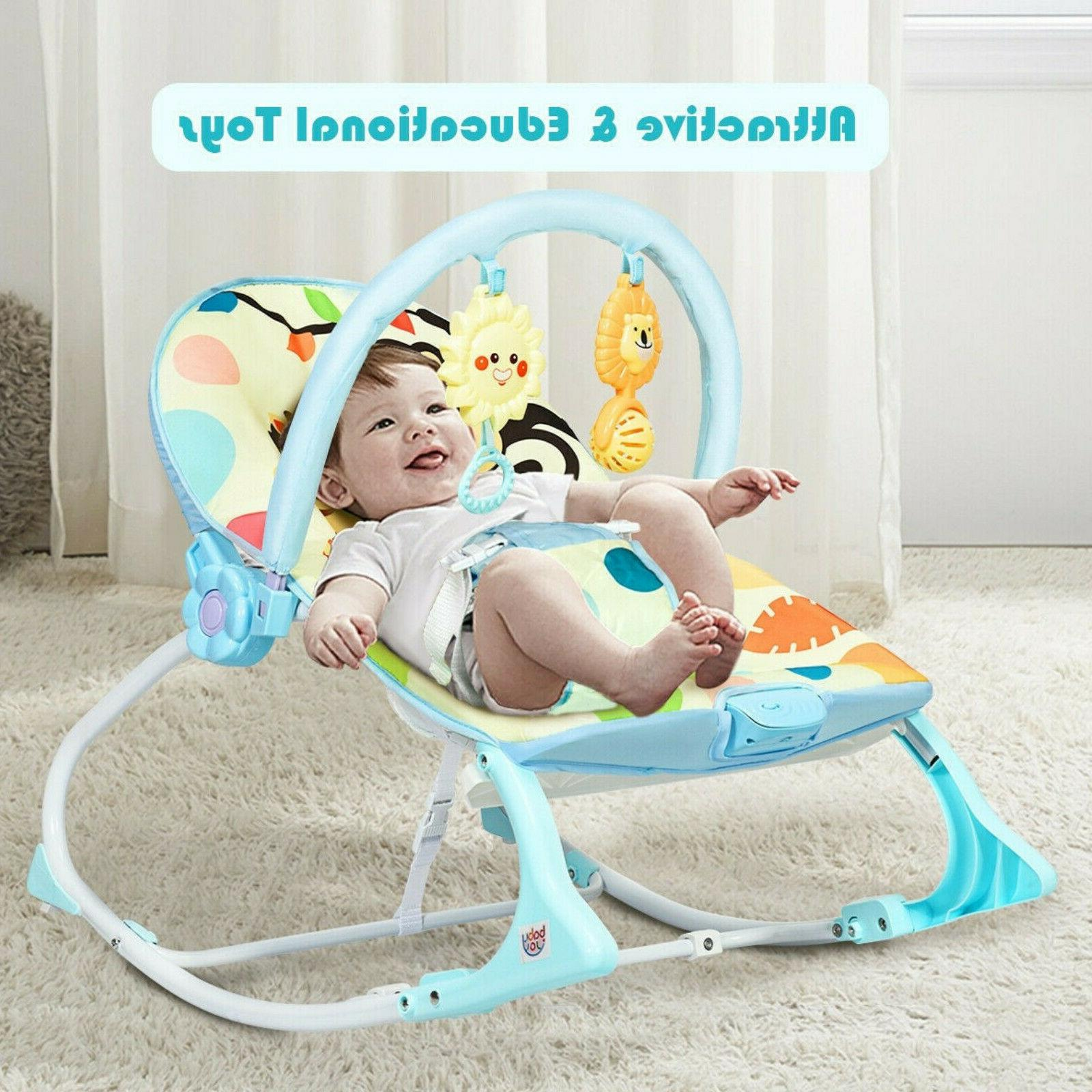 Baby Bouncer Bed Rocking Chair With Adjustable Portable