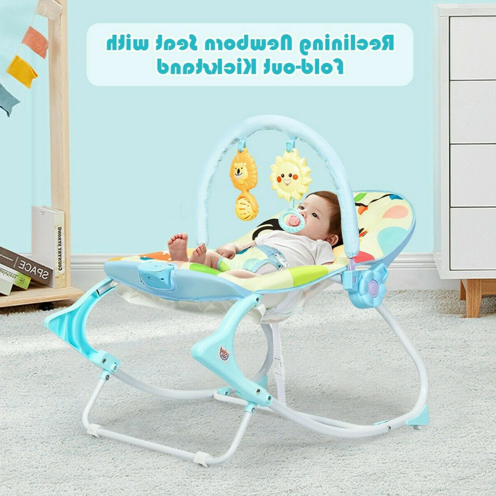 Baby Bouncer Bed Rocking Chair Adjustable Portable
